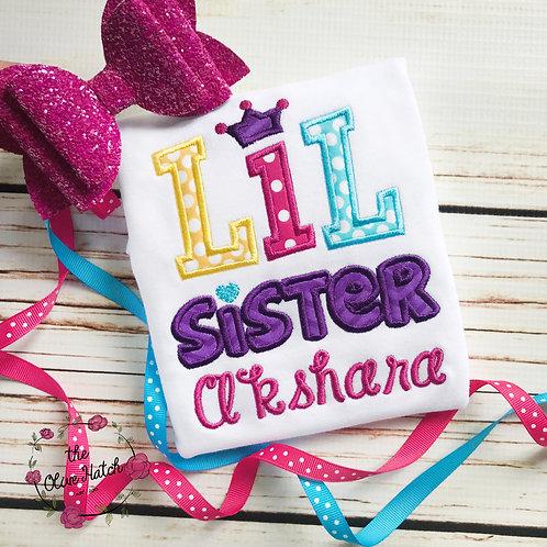 Lil Sister Princess Design -- Applique