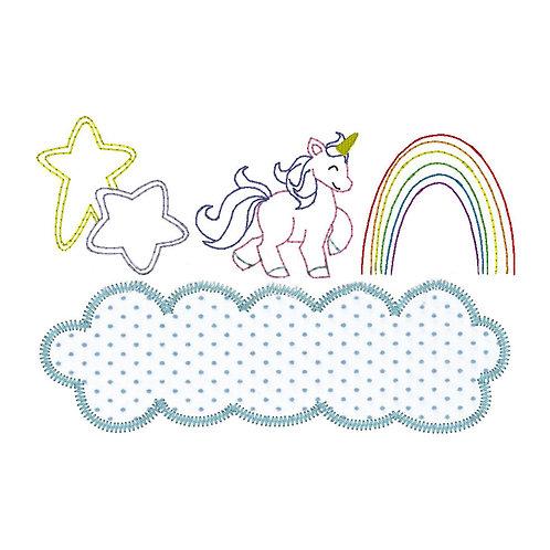 Unicorn Sketch/Applique Shirt