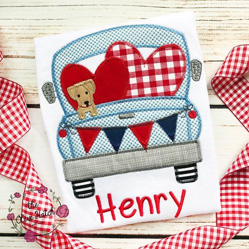 Valentine Truck Applique