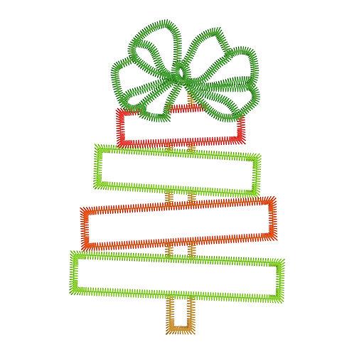Girl Christmas Tree Applique
