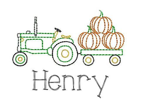 Tractor Sketch Design -- Applique