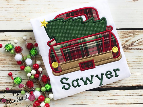 Truck w/ Christmas Tree