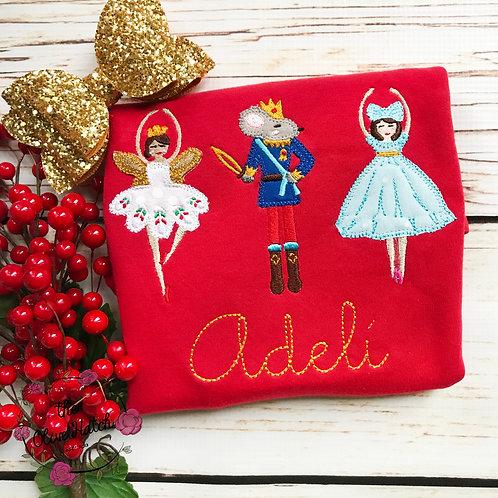 Nutcracker Christmas Blanket Stitch -- Applique