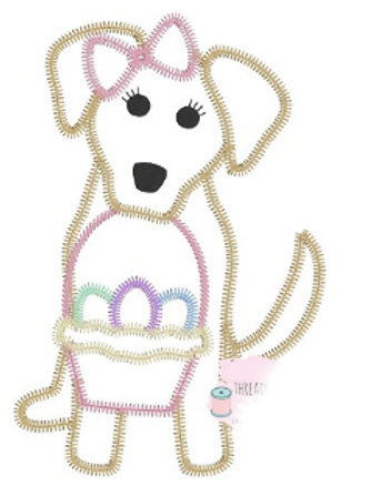 Easter Dog Applique
