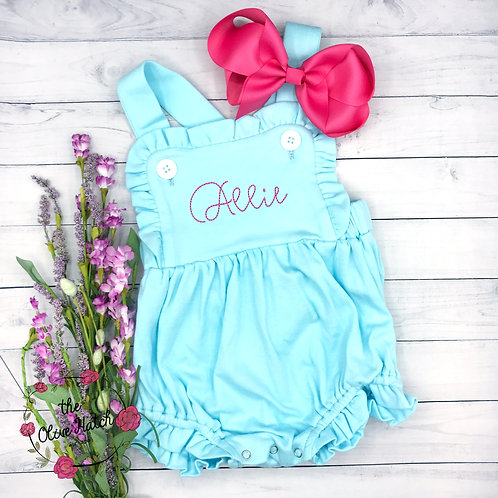 Monogrammed Sunsuit