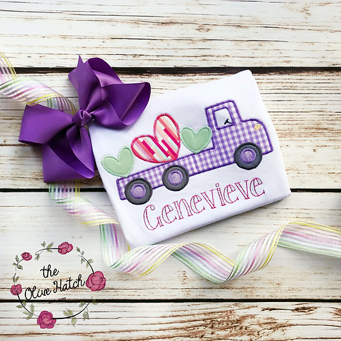 Valentine Truck With Hearts