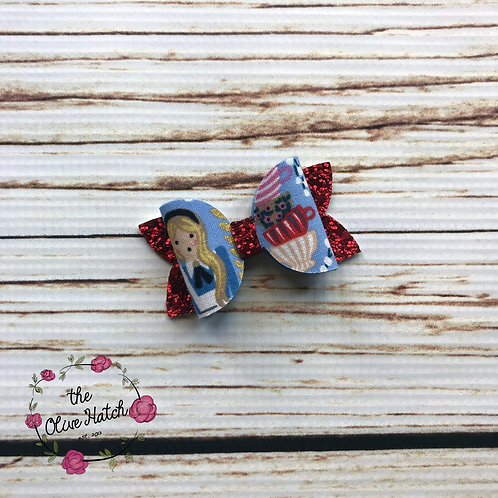 Alice Glitter Bow - Mini Ollie Single Stack