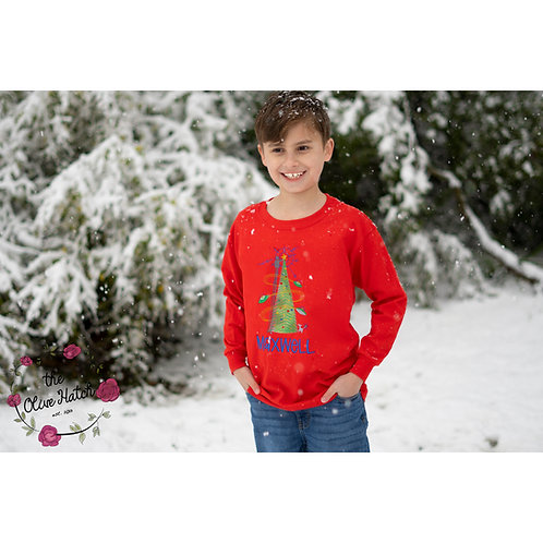 Christmas UFO Applique Shirt