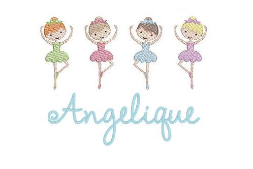 Little Ballerina's Embroidery Design