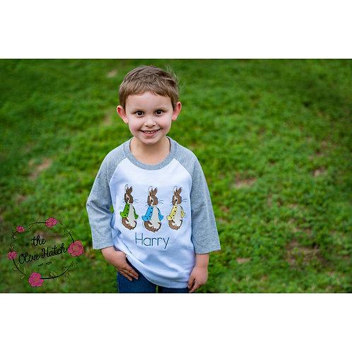 Bunny Trio Embroidery Shirt