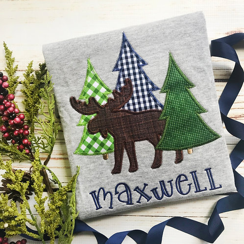 Moose Applique-Boy