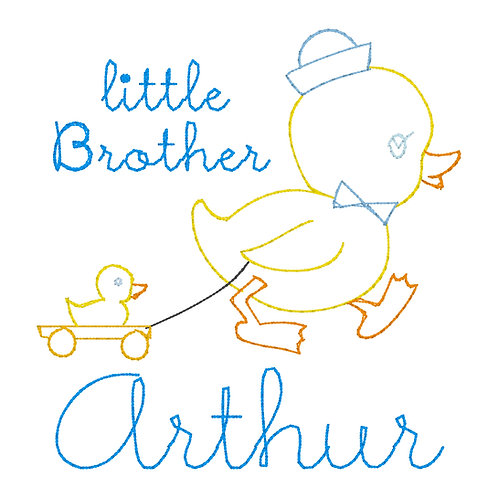 Little Brother Vintage Embroidery