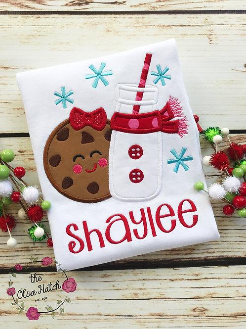Milk and Cookies Christmas Shirt