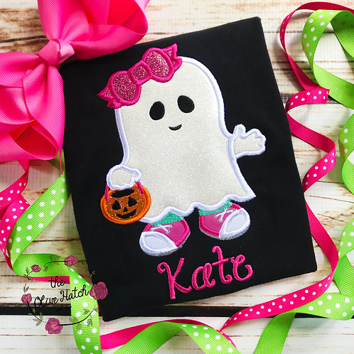 Trick Or Treat Ghost Applique