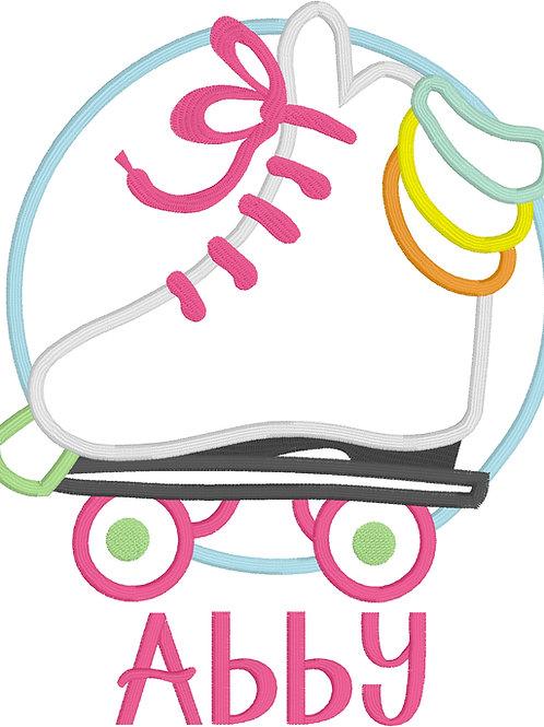 Skate Applique Design