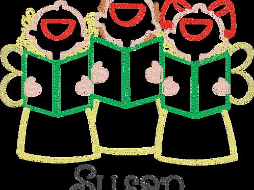 Girl Chorus Design -- Sketch Embroidery