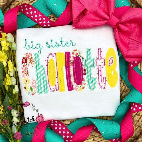 Big Sister Floral Shirt