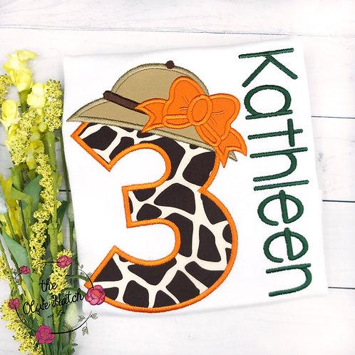 Safari Birthday Applique Shirt
