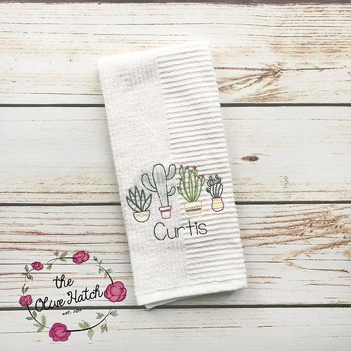 Arizona Cactus Kitchen Towel Embroidered