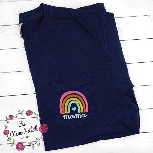 Mama Rainbow Adult Comfort Pocket Tee