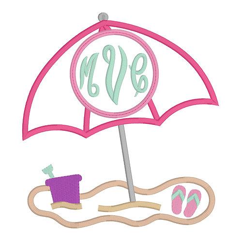 Beach Umbrella Applique Design Shirt