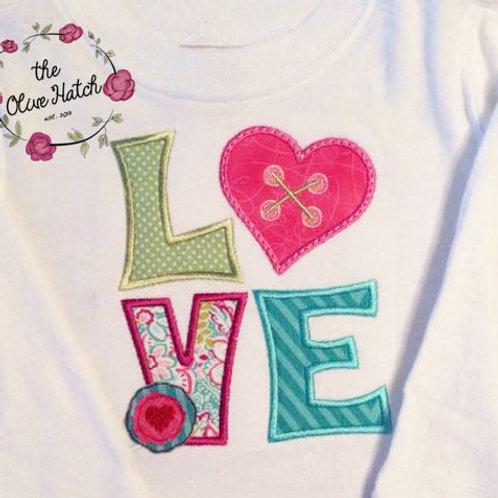 Love Applique Shirt