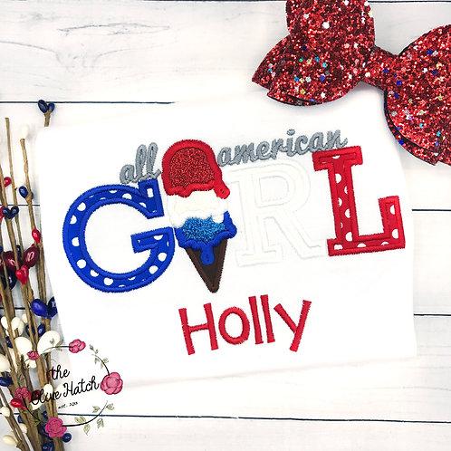 All American Girl -- Applique