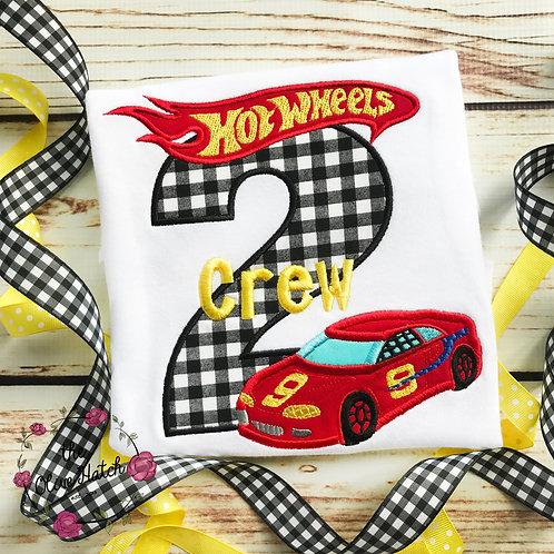 copy of Race Car Birthday Applique Shirt