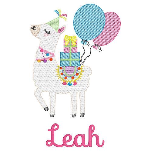 Birthday Llama Sketch