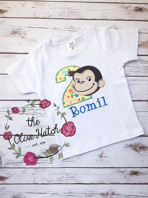 Monkey Applique Shirt