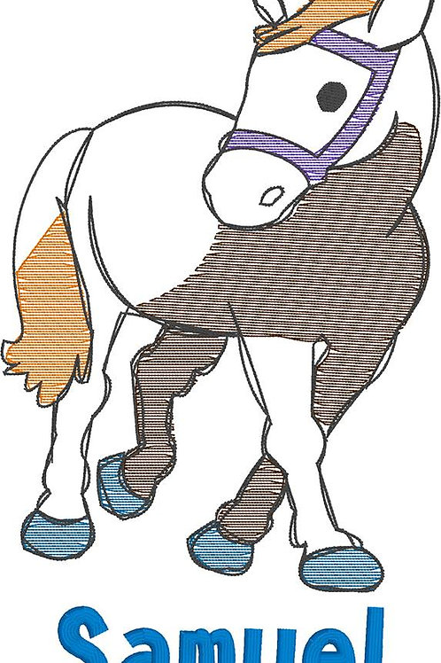Horse Sketch Design -- Embroidery