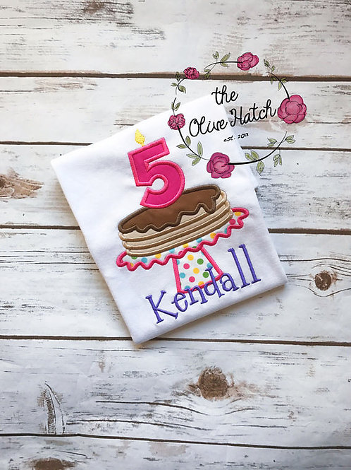 Pancake Birthday Shirt -- Applique