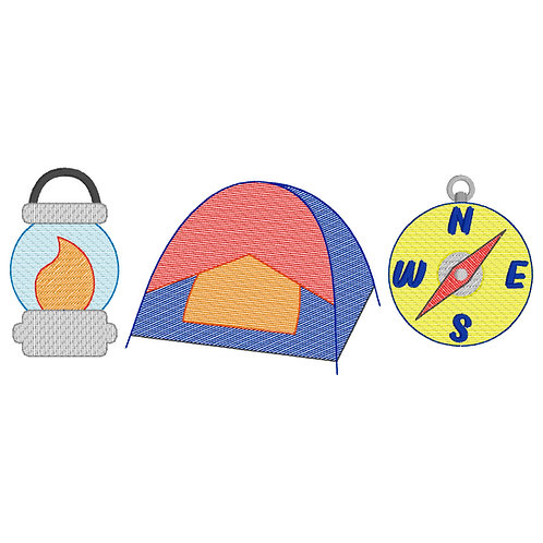 Camping Embroidery Design (Boy)