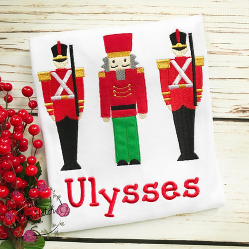 Nutcracker and Soldiers Applique