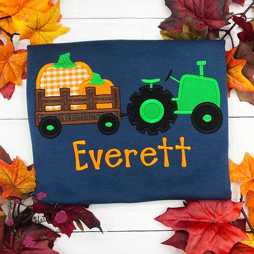 Pumpkin Tractor Shirt