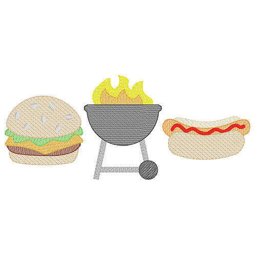 Cookout Embroidery Design (Boy)