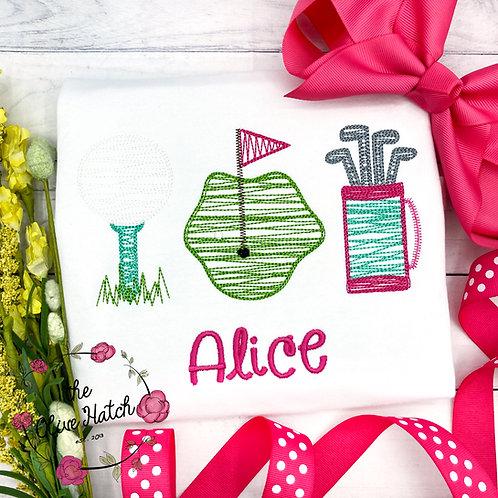 Golf Trio Embroidery
