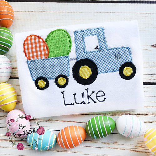 Easter Tractor Applique