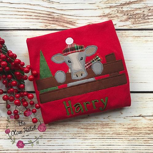 Cow Christmas Design