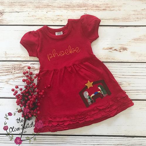 Nativity Christmas Blanket Stitch -- Applique
