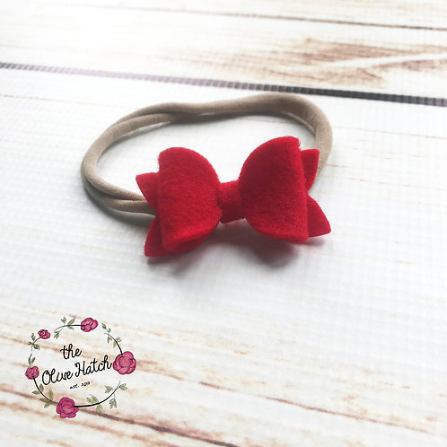 Red Felt Bow - Single Stack