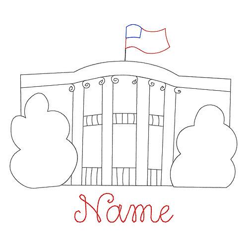 White House Applique - Girl