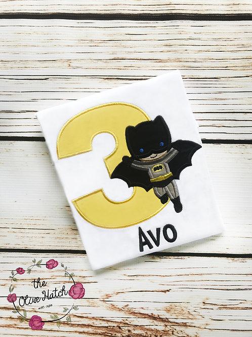Batboy Birthday Shirt -- Applique
