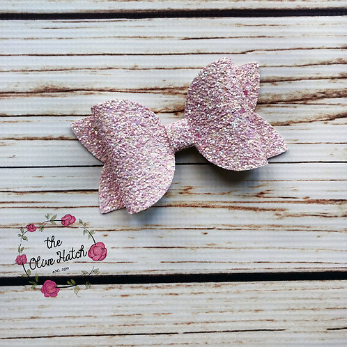 Ballet Pink Glitter Bow - Olive Single Stack