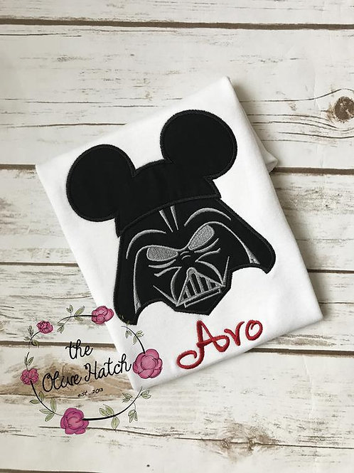 Dark One Mouse Ears -- Applique