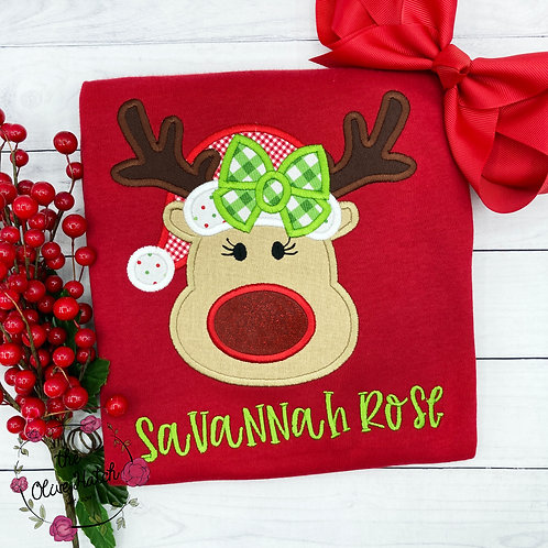 Reindeer Applique Shirt