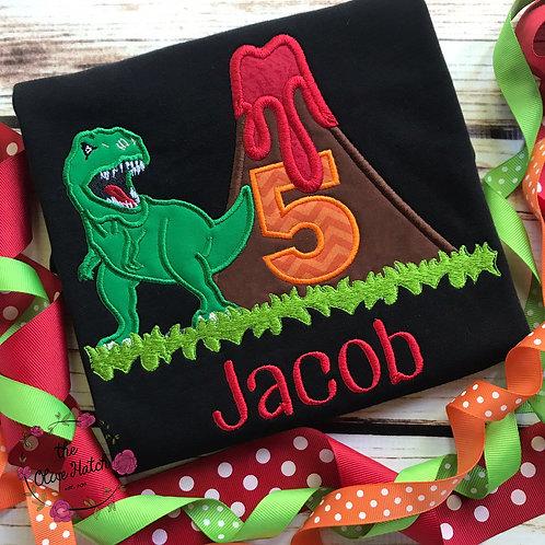 Dinosaur Birthday Shirt -- Applique