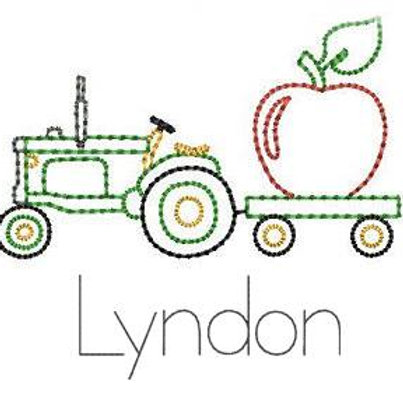 Tractor Sketch Design-- Embroidery