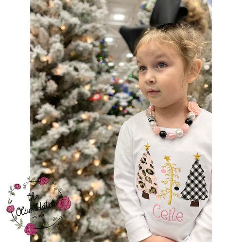 Christmas Tree Applique Shirt