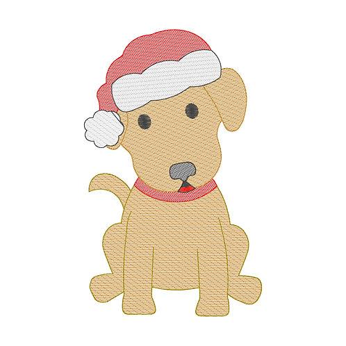 Christmas Dog Applique Shirt